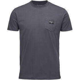Black Diamond Pocket Label Tee Herre carbon